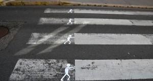 Улична уметност на мали, урбани и хумористични дела
