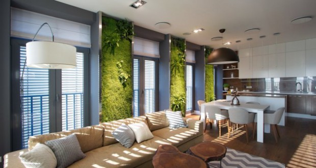 Концептуална оаза со вертикални градинарски панели