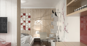 Едноставност со декорација од преплетени мостри