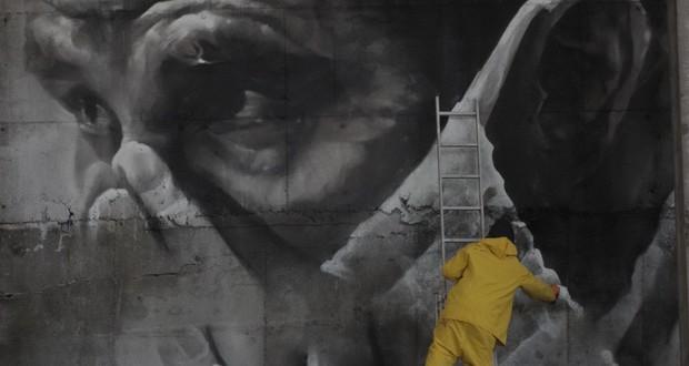 Прв мурал на реакторот во Чернобил
