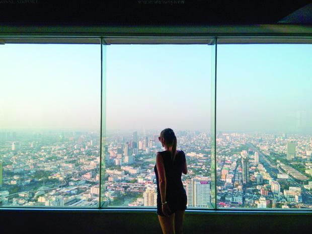 Поглед на Банкок од 84-ти кат на Бајоке облакодер