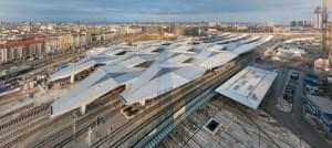 Кристален покрив ја краси новата централна железничка станица во Виена