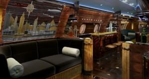 Луксузен авион во кој преовладува арт деко