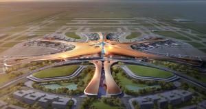 """Во Пекинг се гради најголемиот аеродром во светот """"Морска ѕвезда"""""""