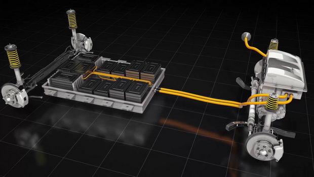 Baterija-elektromobil sema