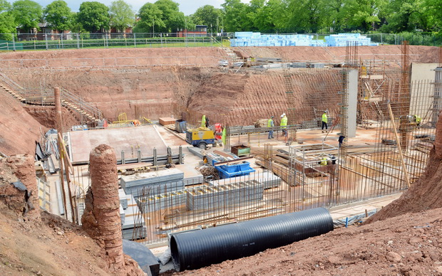 3_Foundations with ground air heat exchange pipe
