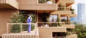 Секој стан во оваа дрвена кула ќе има на терасата по едно дрво