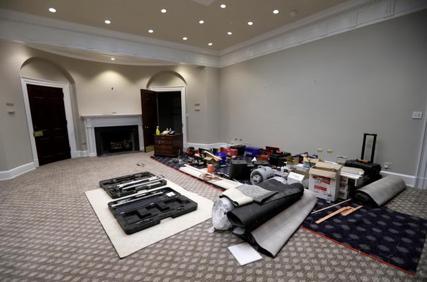 Ruzvelt soba za vreme na renoviranje