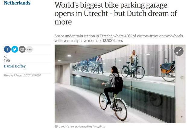 Parking za velosipedi najgolem vo svetot