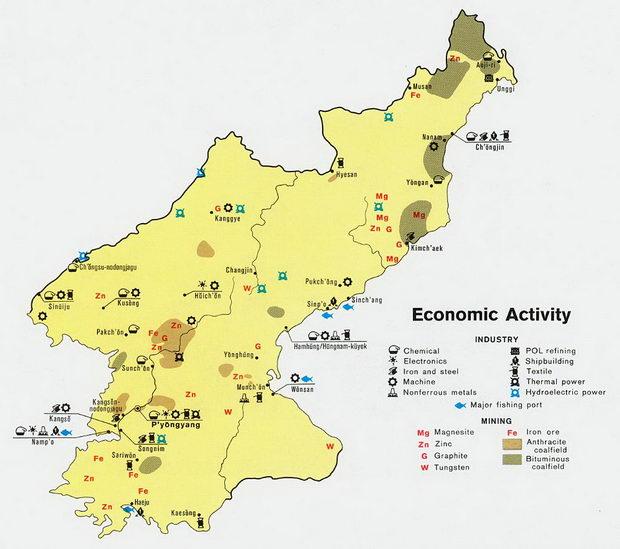 Severna Koreja-ekonomska aktivnost