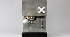 Апарат за кафе направен од бетон