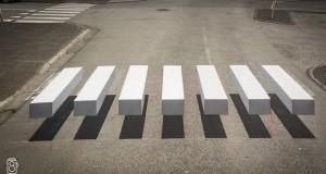 3Д зебра која ги успорува автомобилите и ги штити пешаците