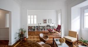 Шаховски паркет како почетна точка за реновирање на стан во Лисабон