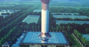 Во Кина пуштен во пробна работа најголемиот прочистувач на воздух во светот