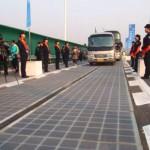 Делница од новиот соларен автопат во Кина, мета на крадци