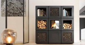Печка на дрва дизајнирана од Philip Starck