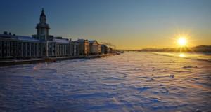 Санкт Петербург во зима