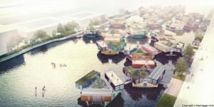 Дански архитекти градат пловечки населби за сместување на студенти