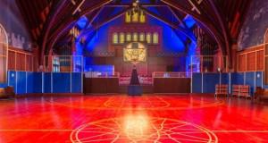 Еве како една црква е претворена во генијално кошаркарско игралиште