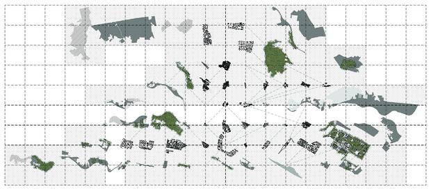 Слика 1. Урбани и пост-урбани фагменти како урбано поле
