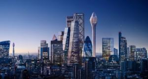 """Кула на Фостер во форма на """"лале"""" никнува покрај лондонскиот """"корнишон"""""""