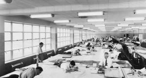 До појавата на AutoCAD вака изгледале проектантските бироа