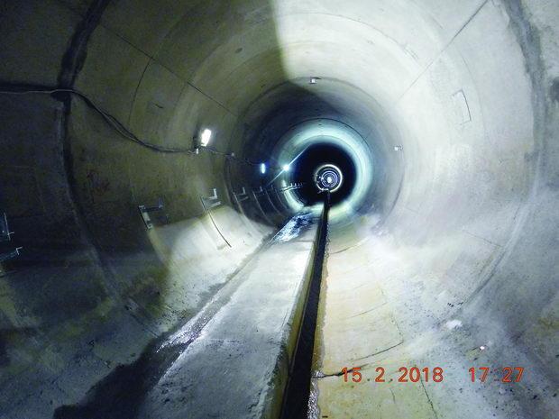 F2 Završena sekundarna obloga obikolnog tunela