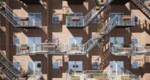 Концепт на модуларни балкони, со цел да го поттикне дружењето помеѓу соседите