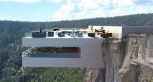Конзолен ресторан надвиснува над кањон во Мексико