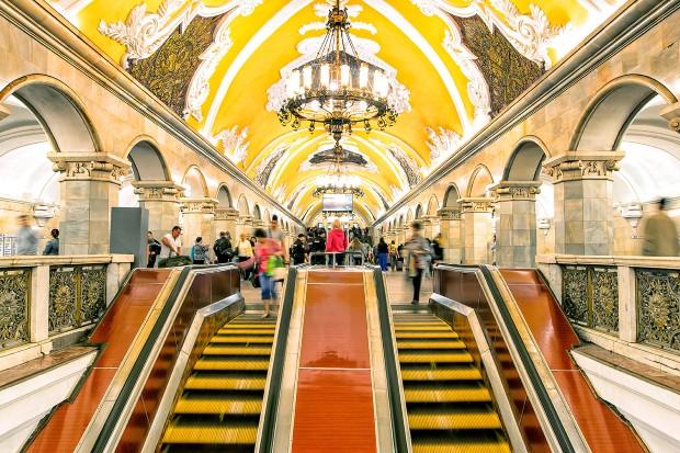 Komsomolskaya subway station in Moscow