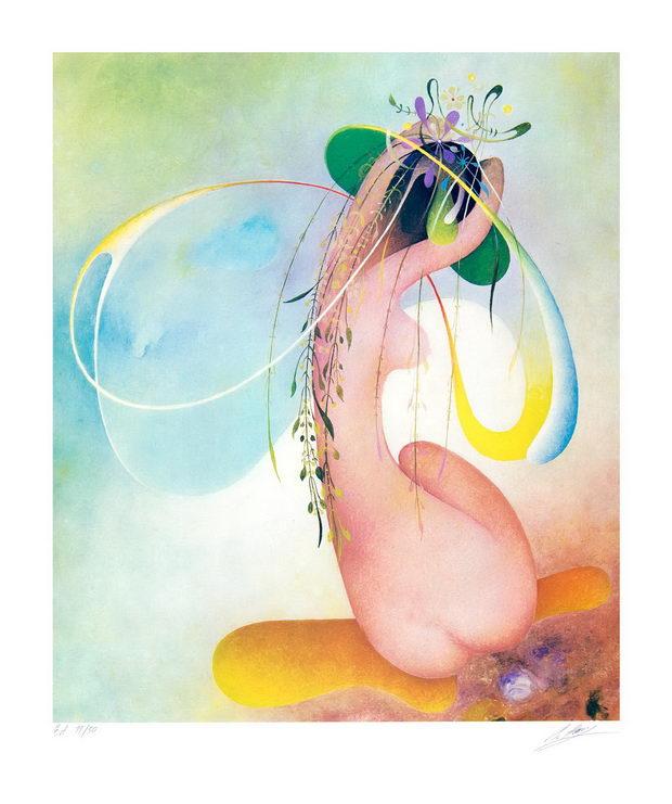 992. Вангел Наумовски, Невеста на летото, 1984, литографија, 60х50 46х38, хартија
