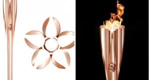 Вака изгледа олимпискиот факел за Токио 2020, направен од рециклиран алуминиум