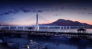 На Тајван почеток на изградба на асиметричен мост со еден пилон