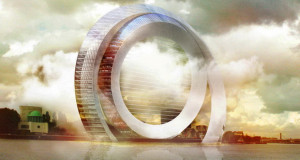 Концепт на холандски инженери – зграда во форма на тркало на ветер