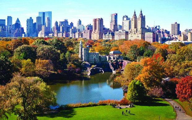 Central Park West Skyline in Autumn