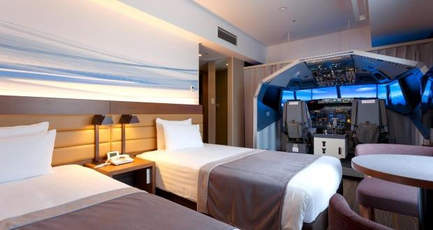Токио: Хотелски соби со симулатор за летање