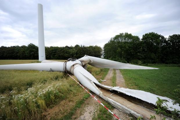 Windkraftanlage abgestürzt