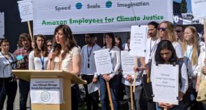 """Вработените од компанијата """"Амазон"""" со поддршка за глобалниот климатски штрајк"""