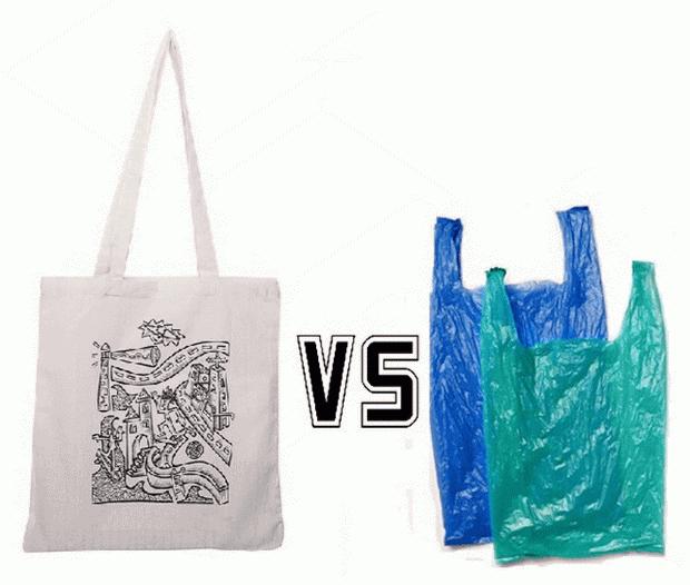 Зошто се памучните кеси полоши од пластичните?
