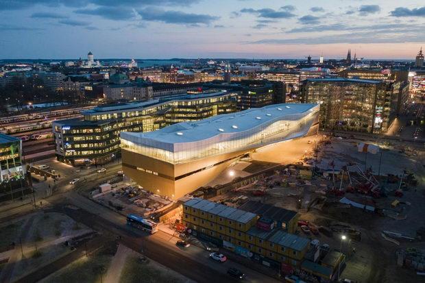 Библиотеката Ооди дизајнирана според принципите на нордиската конструкција