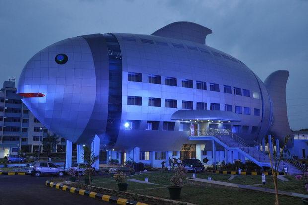 Najcudni gradbi-Zgrada riba vo Indija 2