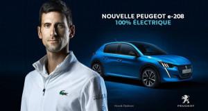 """Новак Ѓоковиќ и """"Пежо"""" – со електромобил директно во иднината"""
