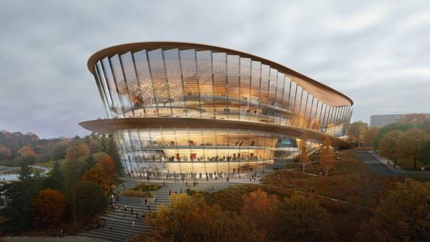 """Русија: Новата зграда на операта """"Чајковски"""", покрај брегот на реката Кама"""