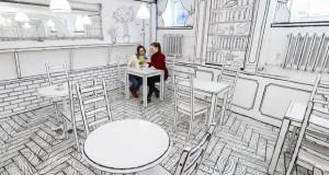 Кафуле кое изгледа како цртеж