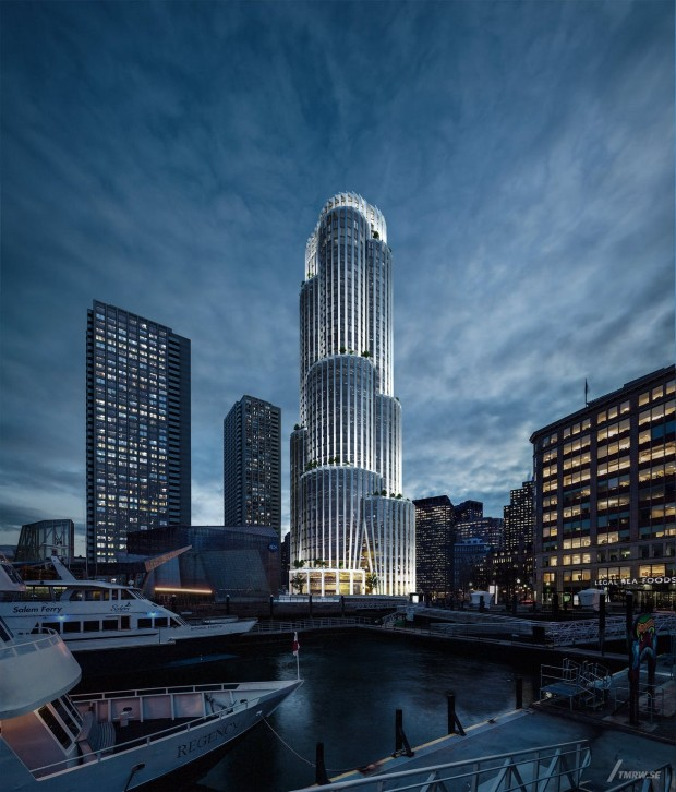 Енергетски ефикасен облакодер во Бостон