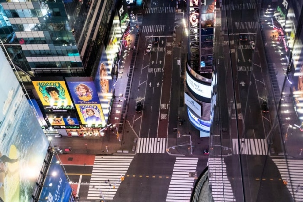Улиците на Њујорк, градот кој никогаш не спие се празни (фото)