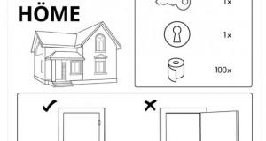 IKEA со креативни инструкции за однесувањето во време на пандемија