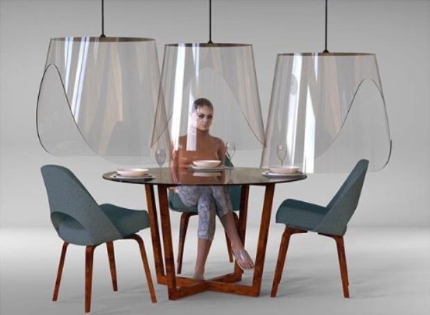 Францускиот дизајнер го решил проблемот на дистанцирање во ресторани