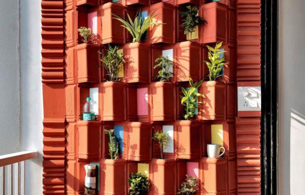 Зелен ѕид направен од рециклирани плочки за природно ладење