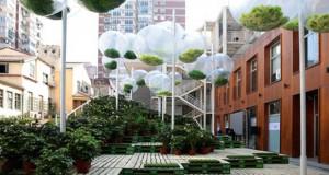 Урбана градина во Шангај од отпад